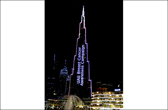 Burj Khalifa Shines in Pink in Biggest Worldwide Visual Campaign for Breast Cancer Awareness