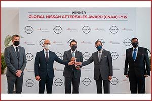 Arabian Automobiles Awarded Global Nissan Aftersales Award in Large National Sales Company Category