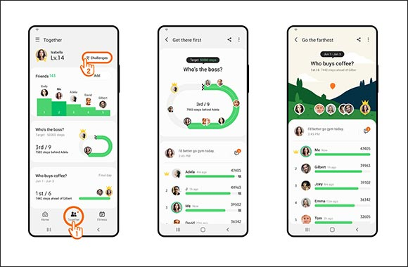 Achieve Your New Year's Resolution with New Group Challenge Feature in Samsung Health