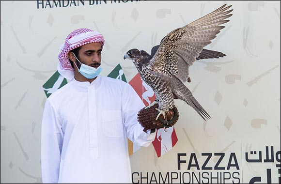Sheikh Hamdan's Falcon named Antar Finished Strong at Fazza Championship for Falconry in Dubai