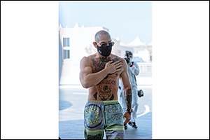 Conor McGregor Arriving at Fight Island