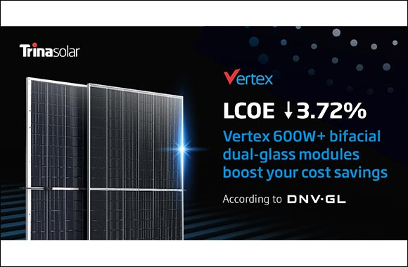 DNV GL's Technical Report: Reducing LCOE by 3.72%, Trina Solar Pioneers in Better System Value by 210 Vertex Modules Conjoining Single-Axis 2 portrait installation (2P) Tracker