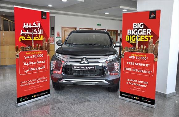 "The ""Big Bigger Biggest"" Offer is Back  Adding more Value for Mitsubishi customers  at Al Habtoor Motors"