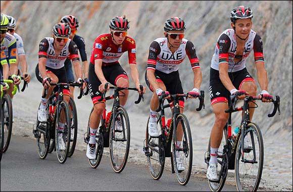 Pogacar Takes Second to Keep Race Lead in Tense Jebel Jais Mountain Finish