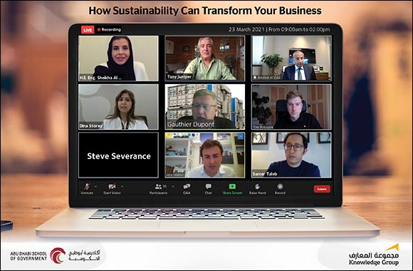 Knowledge Group in Partnership With Abu Dhabi School of Government Sheds Light on How Sustainability Can Transform Businesses