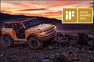 All-New Ford Bronco Earns Prestigious iF Design Gold Award 2021; Jury Says Pragmatic, Emotional Desi ...