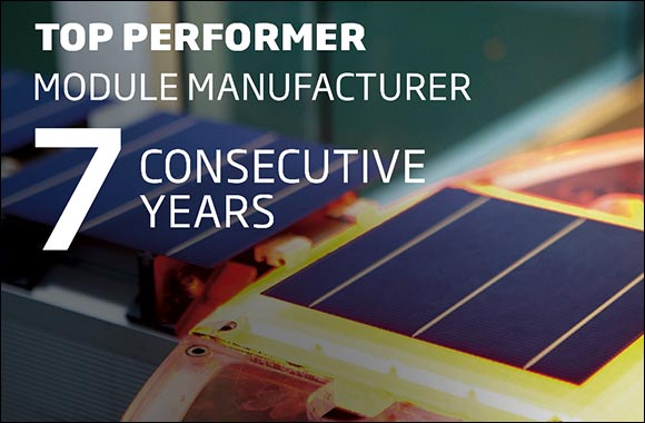 """Trina Solar Wins Its Seventh Consecutive """"Top Performer""""  Certified by PVEL for Its High-Reliability Modules"""