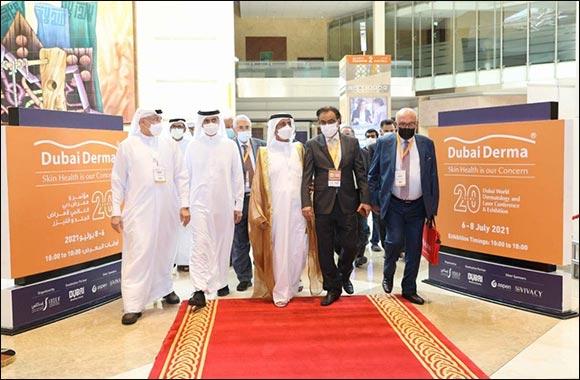 Hasher Bin Maktoum Al Maktoum Inaugurates the 20th edition of Dubai Derma