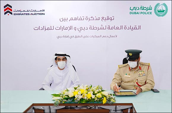 Dubai Police, Emirates Auction Collaborate to Provide Assistance to on-road broken-down Vehicles