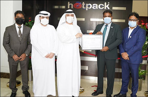 Hotpack Certified 'Verified Exporter' by DED Export Promotion Entity