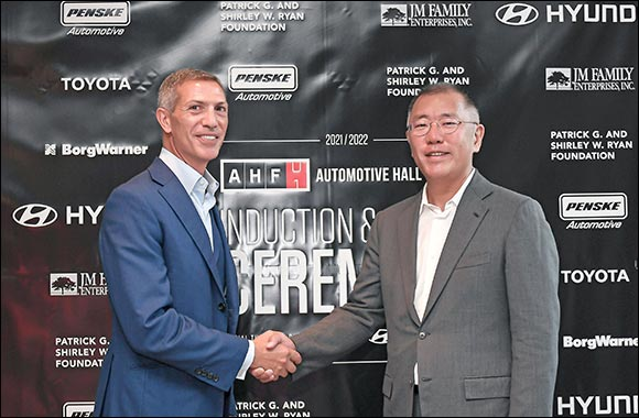 Hyundai Motor Group Honorary Chairman Mong-Koo Chung Inducted Into Automotive Hall of Fame at Official Ceremony'