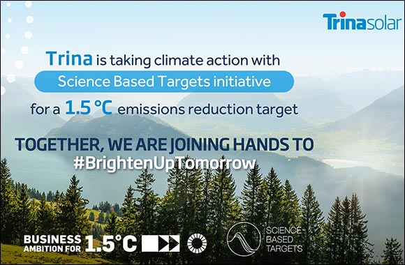 Trina Solar Joins SBTi Initiative, Underling Its Support for 1.5°C Emissions Reduction Target
