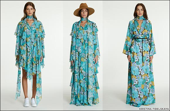 Kristina Fidelskaya — Fall Blues, Sixties Floral Print, & Retro-Inspired Ruffles