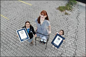 TURKEY'S Rumeysa Gelgi is warded GUINNESS WORLD RECORDS™ Title for Tallest Woman Living with a Heigh ...