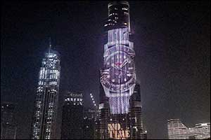 Rivoli Group Launch OMEGA's New ad Campaign for the 007 Edition timepiece on Burj Khalifa