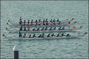 An Action Packed; Adrenaline Fueled Dragon Boat Challenge returns to Dubai's Waterfront Market