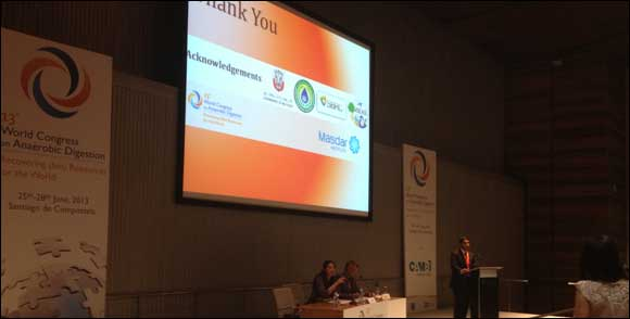 Masdar Institute Paper Wins Best Presentation Award at 13th World Congress on Anaerobic Digestion in Spain