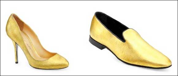 24 carat gold shoes by Alberto Moretti Sold exclusively at Level Shoe District in Dubai