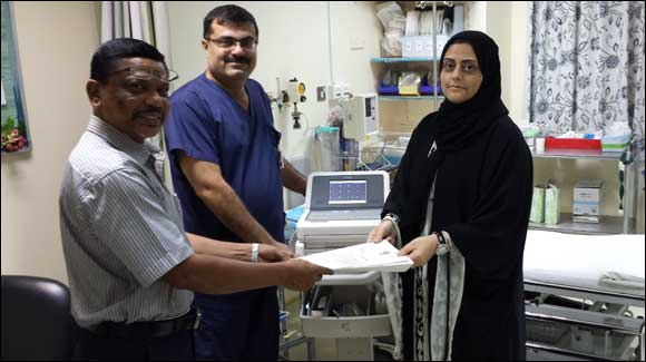 Malabar Gold & Diamonds donates ECG Machine to Al Baraha Hospital - Dubai