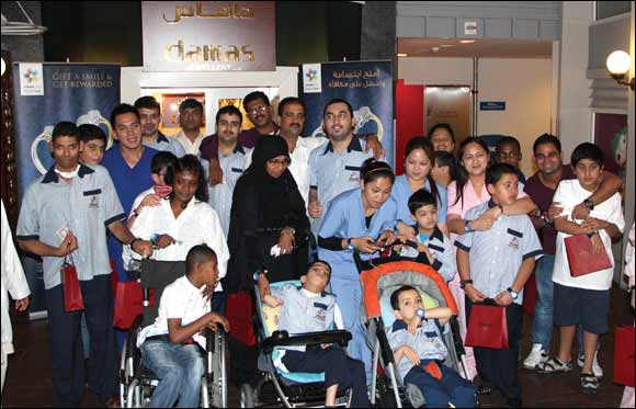 Damas Jewellery hosts children from the Senses Centre for Special Needs at Kidzania
