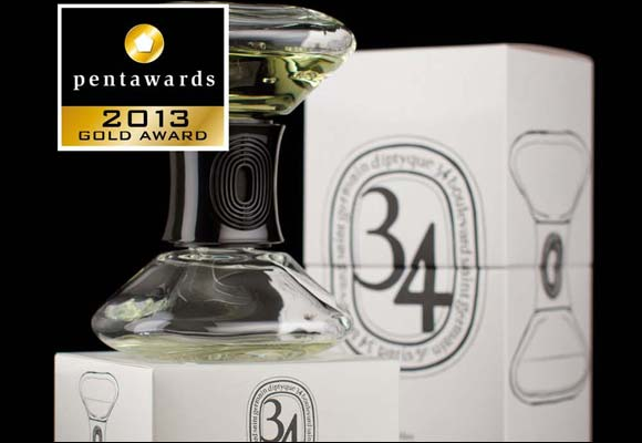 The Hourglass by diptyque wins Allure awards and Pentawards 2013 awards