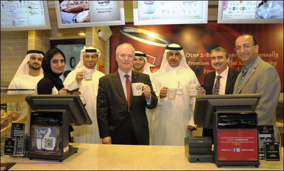 H.E. Ross Miller Consul General of Canada to Dubai and the Northern Emirates inaugurates Tim Hortons at EPPCO