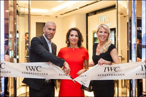IWC Schaffhausen and friend of the brand Zinédine Zidane celebrate IWC's New Boutique at the Galleria in Abu Dhabi
