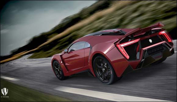 "W Motors unveils its First Arabian Hypercar Production, the ""Lykan HyperSport 2014"", at the Dubai International Motor Show"
