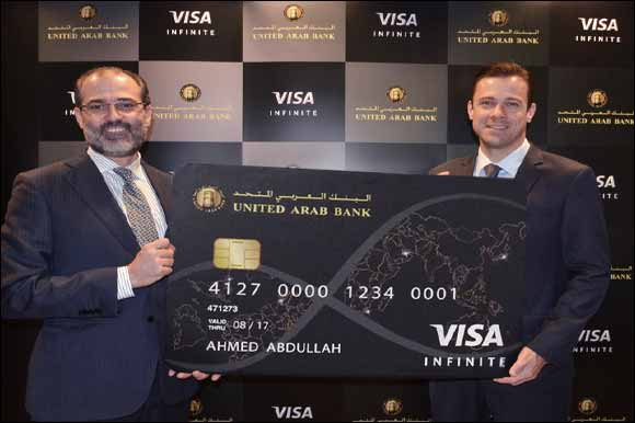 Enter a world of luxury with the United Arab Bank Visa Infinite Credit Card; One Card - Infinite possibilities