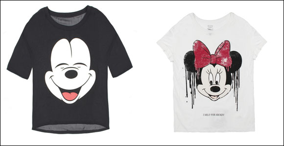 Mickey and Minnie Mouse Star in Bershka's new capsule collection!