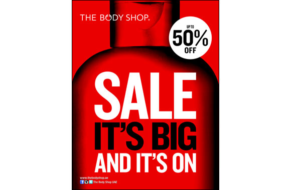 This DSF The Body Shop offers UPTO 50% off across all its stores in the UAE.