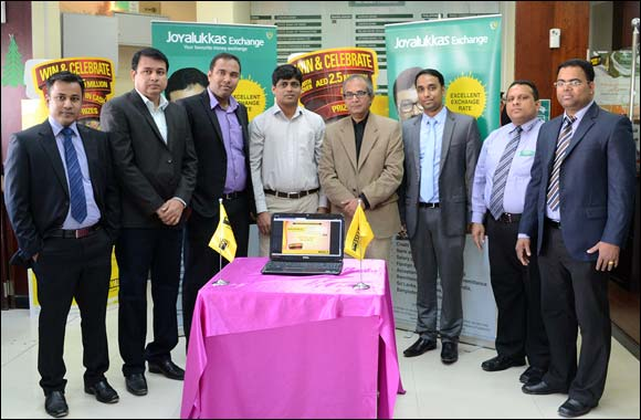 Joyalukkas Exchange conducts the Western Union's 'Win & Celebrate' promotion's 2nd prize winner.