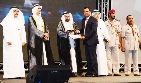 Malabar Gold & Diamonds honored by the ruler of Sharjah at 6th International Scout gathering
