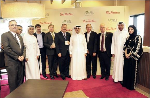 Hamad Buamim & Ross Miller inaugurate Tim Hortons at Dubai Chamber