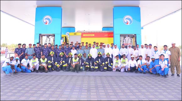 ADNOC Distribution Organizes Fire and Evacuation Drill at Mazyad Service Station in Al Ain