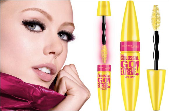 Flaunt sweeping lashes with pumped up volume only with Maybelline New York's Colossal Go Extreme