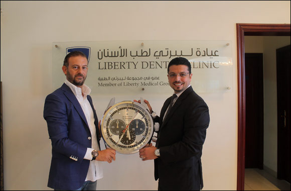 Zenith Brand Ambassador, Dr. Majd Naji, officially displays Zenith timepieces at the Liberty Dental Clinic