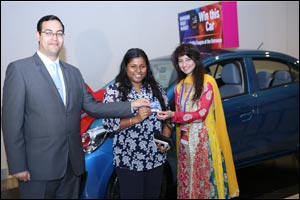 Indian woman wins 1st car at Ramadan Night Market