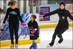 Local Skaters Spin, Twirl and Pivot with Disney on Ice Stars at the Dubai Mall Master Class