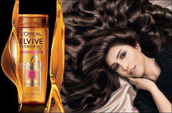 Uncover outstanding nourishment in L'Oreal Paris' 1stever shampoo range enriched with 6 flower oils: Elvive Nourishing Oil Shampoo.