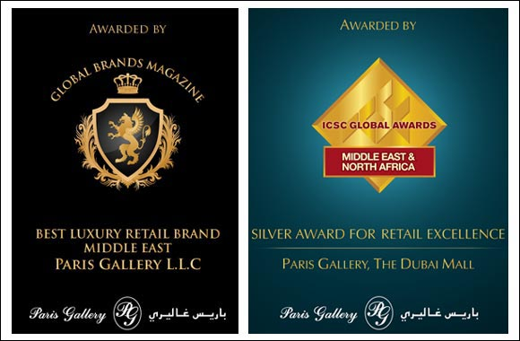 Paris Gallery Bags Two Prestigious Retail Awards
