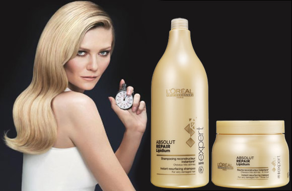 Absolut Repair Lipidium the new professional hair care service for 100% repair of hair damage in just one salon protocol
