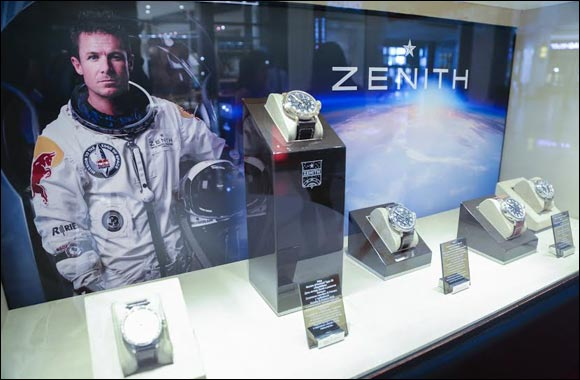 Zenith and felix baumgartner greet the summits of dubai