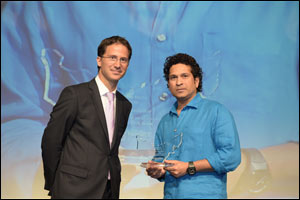 Renowned Cricketer Sachin Tendulkar Graces Schneider Electric's Easy9 Launch in Dubai