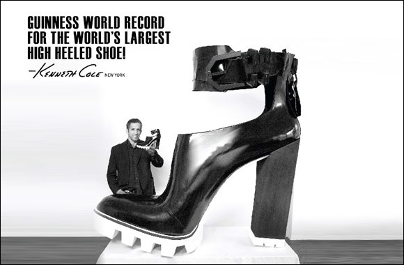 Kenneth Cole wins Guinness World Record for World's Largest Shoe