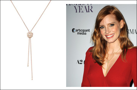 "Jessica Chastain shines in Piaget at the New York premiere of ""A Most Violent Year"""