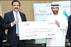 HE Essa Al Haj Al Maidoor, Director General of DHA endorses �My Health My Pledge' initiative