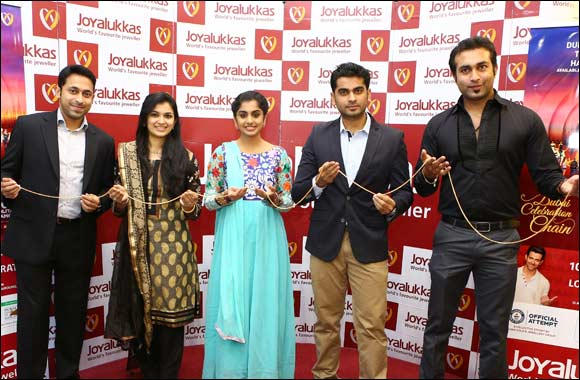 South Indian actor and Celebrity RJ Meera Nandan launches Dubai Celebration Chain at Joyalukkas