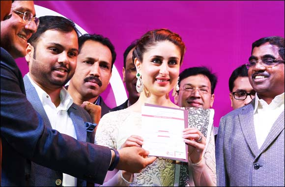 Kareena Kapoor Khan prebooks the historical 'Dubai Celebration Chain' from Dubai's biggest outlet – Malabar Gold & Diamonds