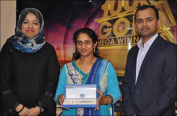 Joyalukkas shopper wins 1 ct solitaire diamond at the DSF Mega raffle draw